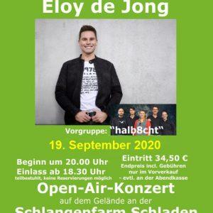 Schlangenfarm Events 2020 Eloy de Jong