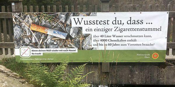 World Cleanup Day im Nationalpark Harz