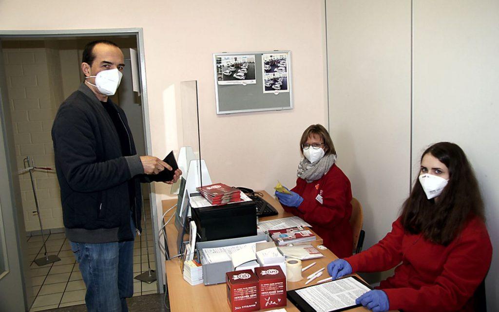 Blutspendeergebnis