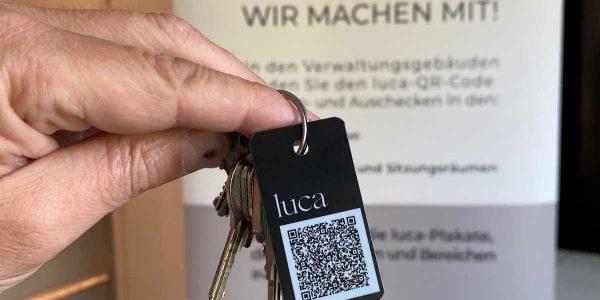 Presseinformation des Landkreises Goslar _Kreisverwaltung empfiehlt luca-App_, luca_anhaenger titel web
